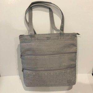 LUG BRUSHED SILVER TAXI TOTE & FREE ECO SHOPPER NW